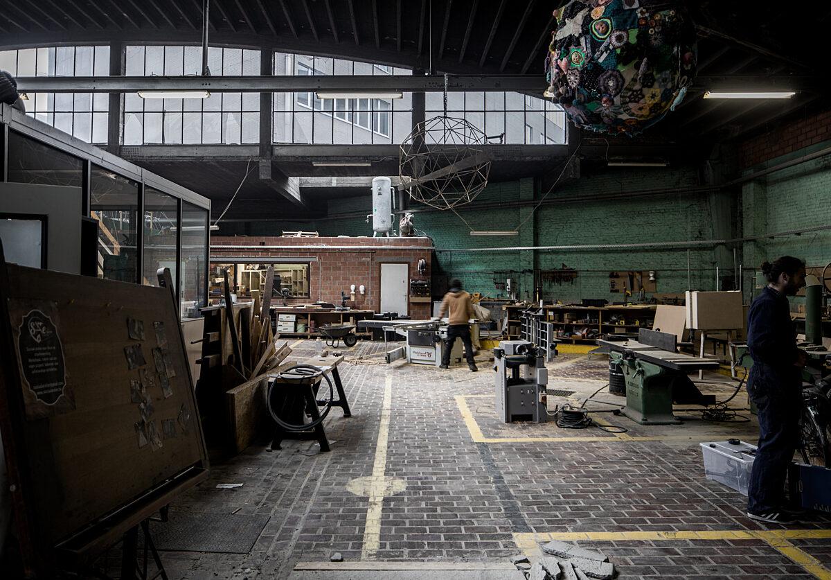 Het atelier oud